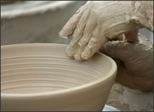 Making pottery - learn to make pottery at a pottery workshop with Geoffrey Healy