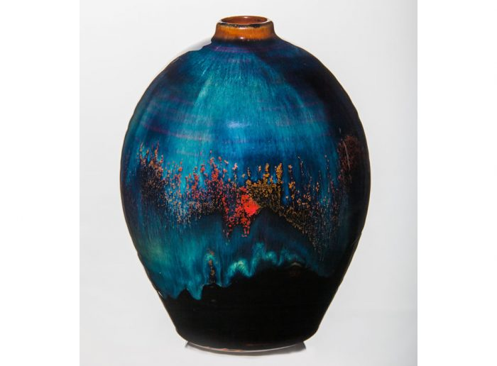 Large Bottle One Geoffrey Healy Pottery