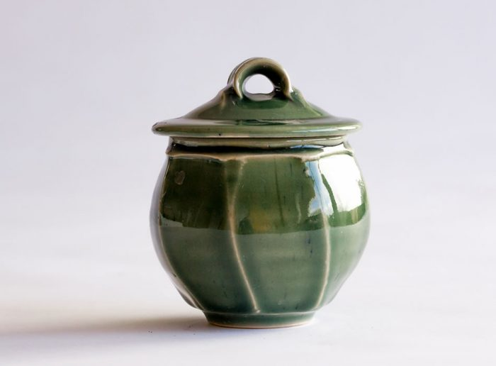 Tea Caddy Three   Handmade Irish Pottery by Geoffrey Healy