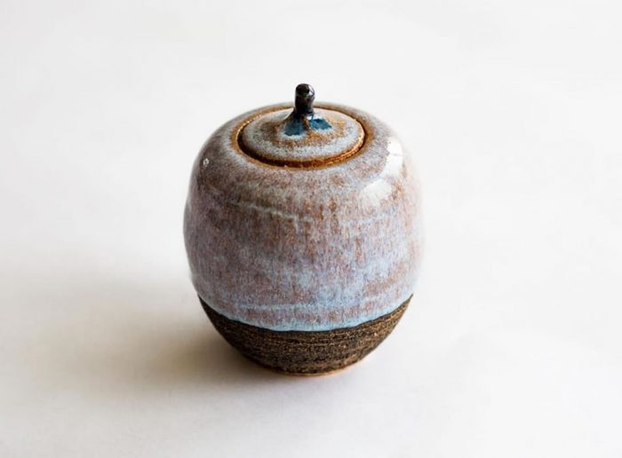 Tea Caddy Two Geoffrey Healy Pottery Studio Wicklow