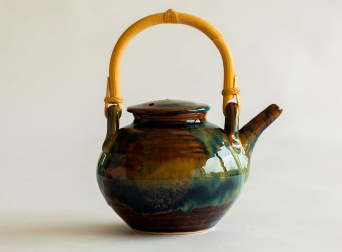 Cane Handle Teapot One   Geoffrey Healy Pottery Wicklow