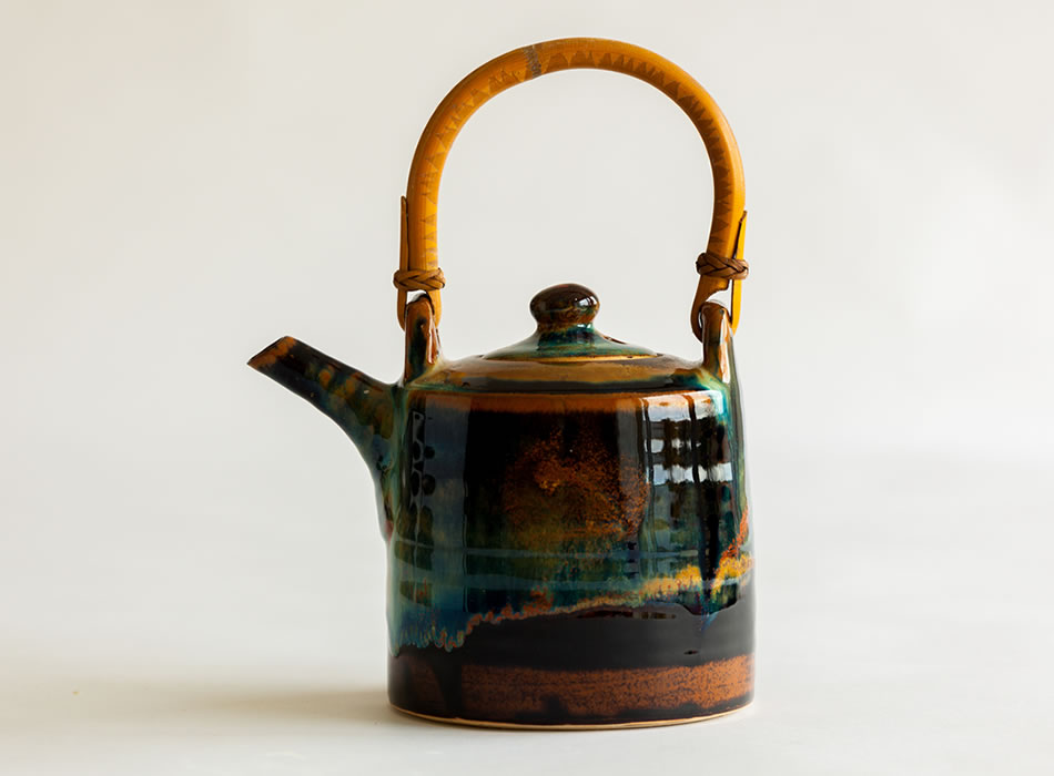 Cane Handle Teapot Two | Geoffrey Healy Pottery Wicklow
